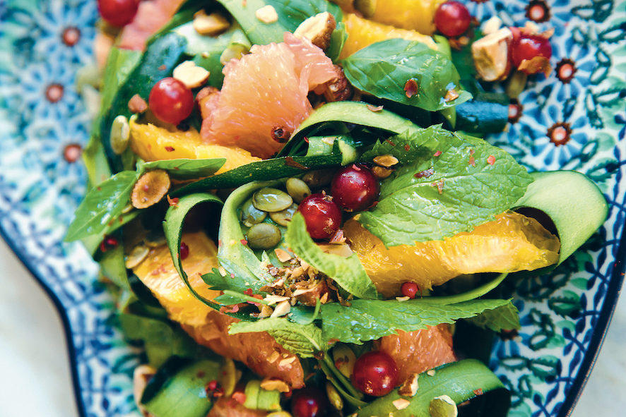 Rauwe courgette salade